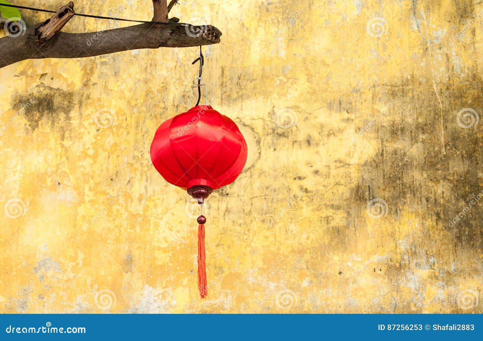 Vietnamese Red Silk Lantern Stock Image - Image of silk, chinese ...