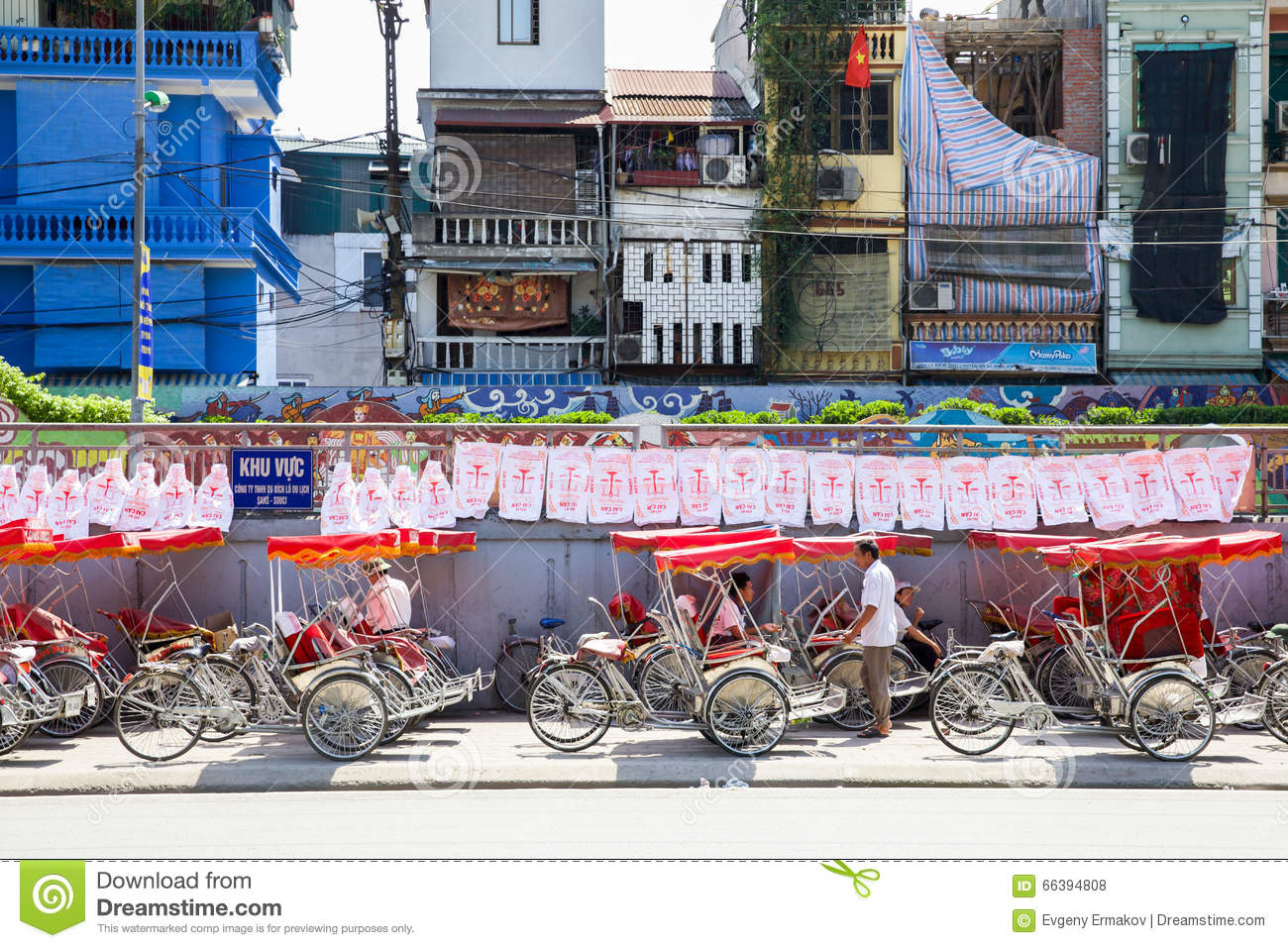 Vietnamese Rickshaw Parking Editorial Stock Photo Image of passenger, exotic 66394808