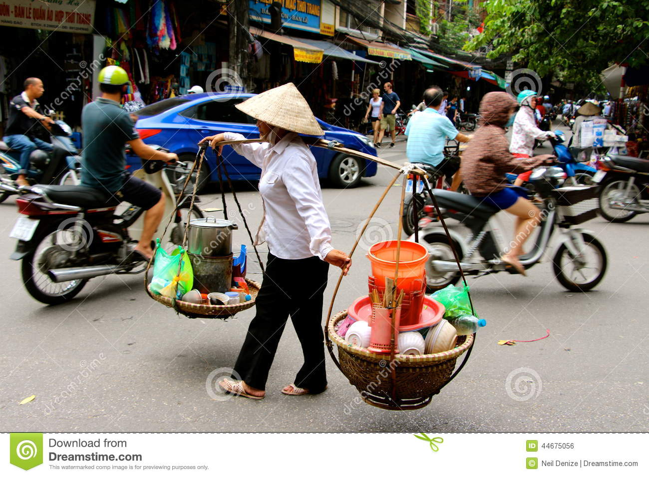 Vietnamese Women Street Vendors Hanoi Editorial Photo - Image of ...