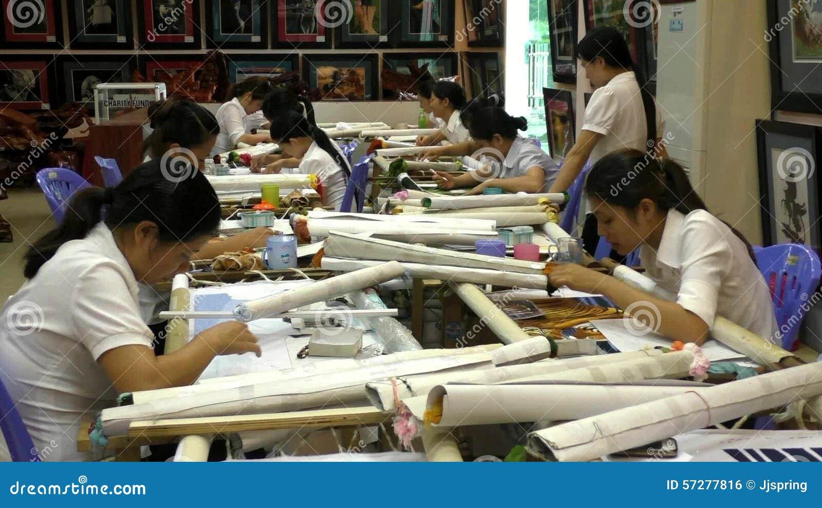 Vietnamese Women work at the garment factory