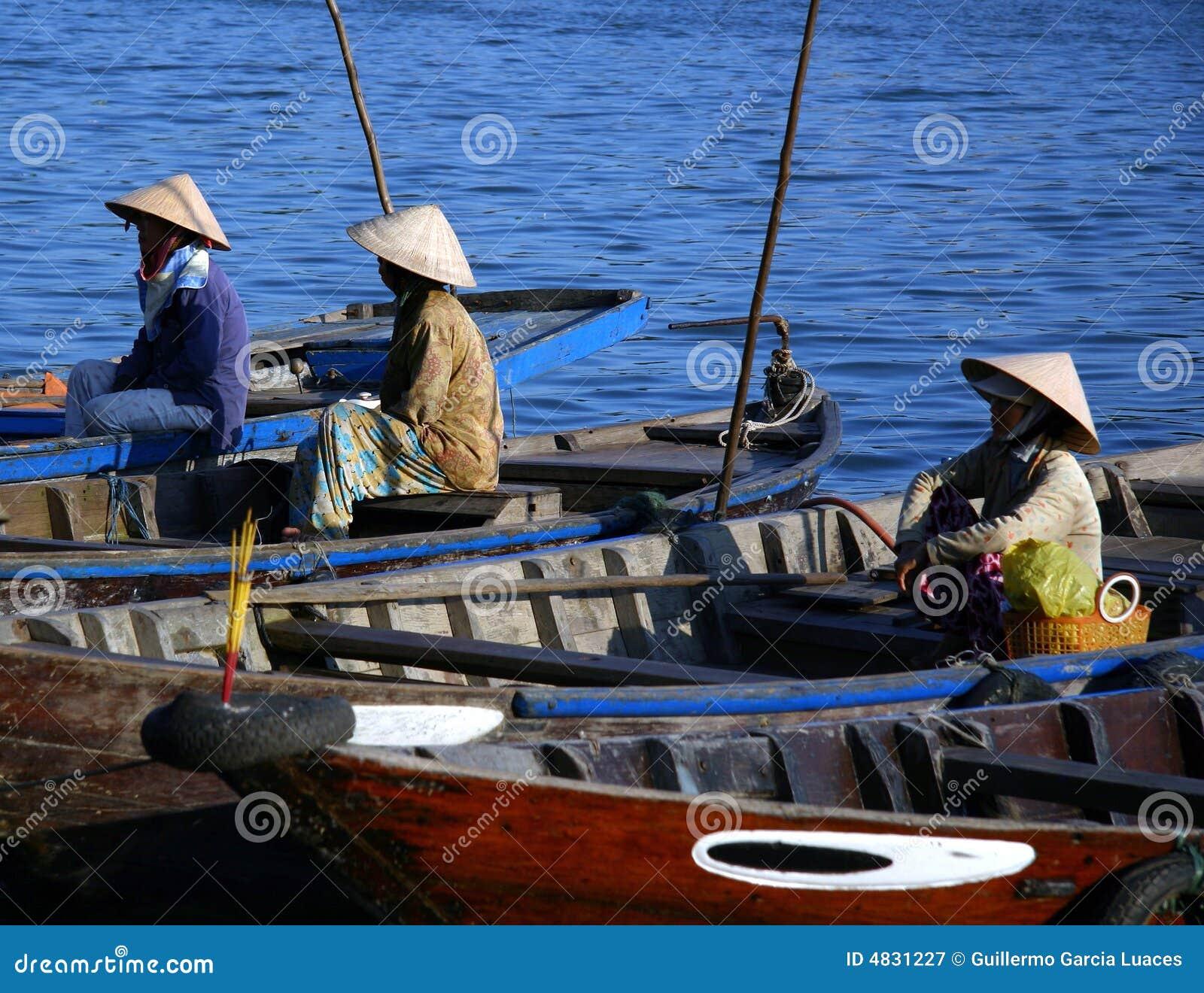 Vietnamesische Fischer