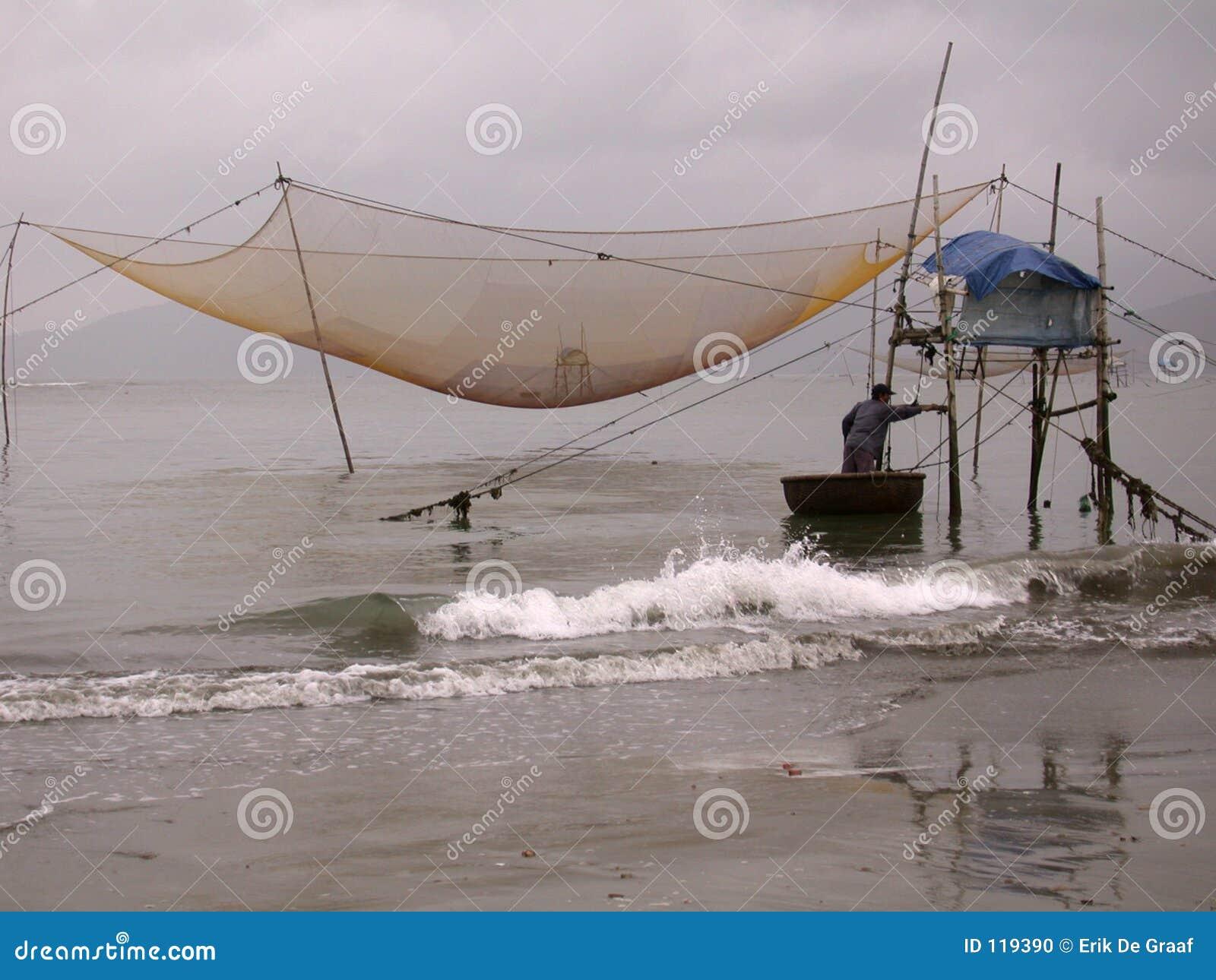 Vietnamesischer Fischer