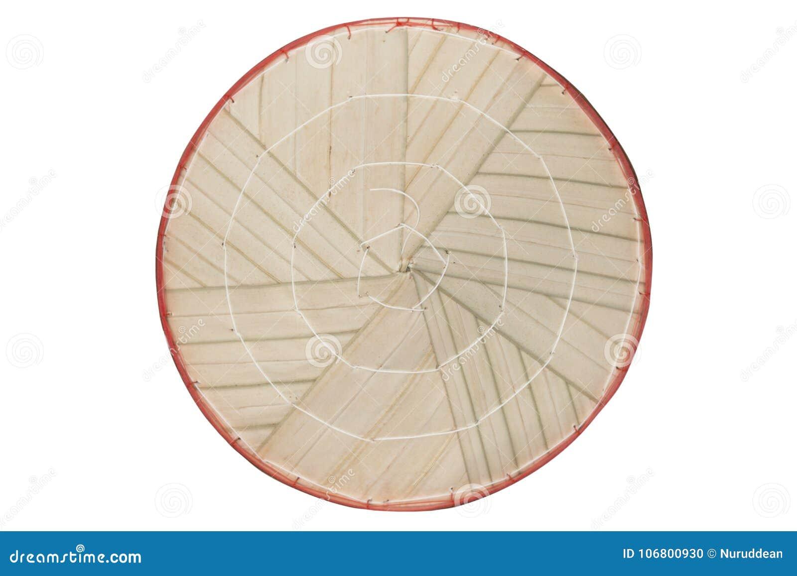 Download Vietnamesischer Konischer Hut Lokalisiert Auf Weißem Hintergrund Stockfoto - Bild von nahaufnahme, konisch: 106800930