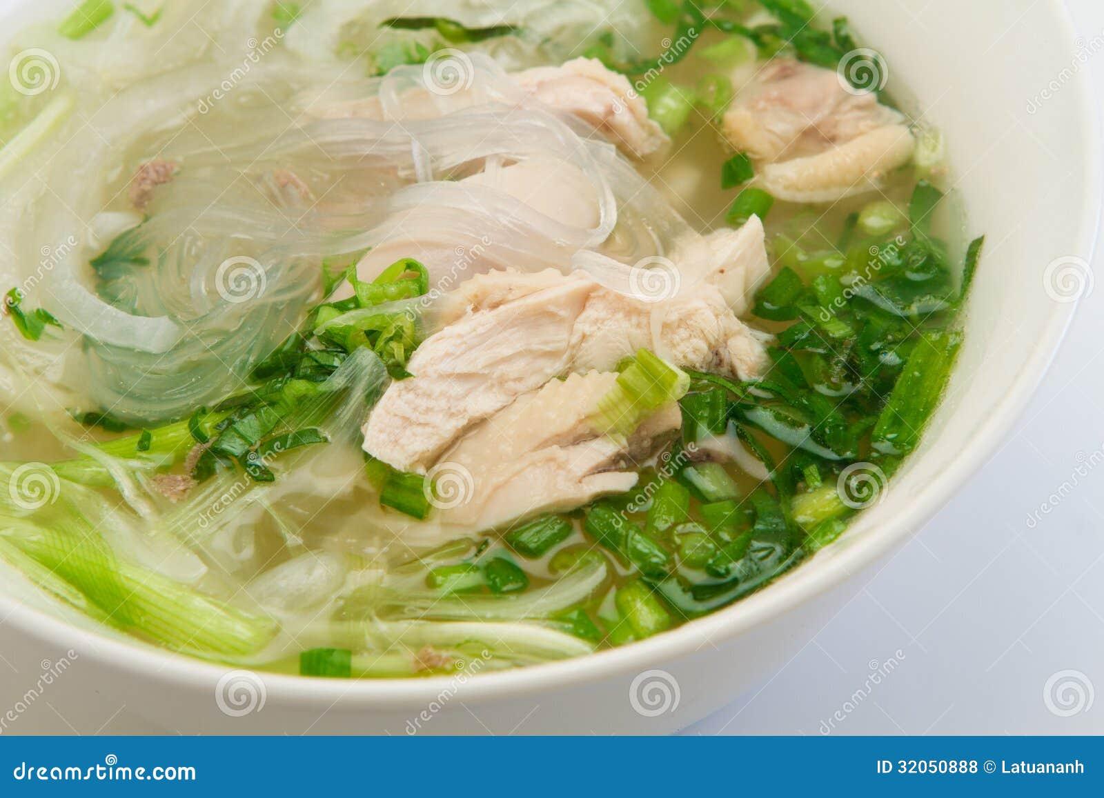 Vietnamesisches Huhnerglasnudelsuppe Stockfoto Bild Von Dekoration Aroma 32050888