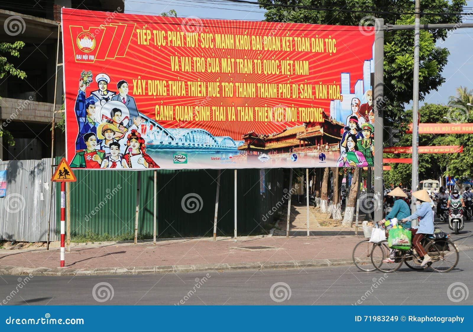 Vietnamesisches Vaterland-Frontplakat in der Farbe, Vietnam