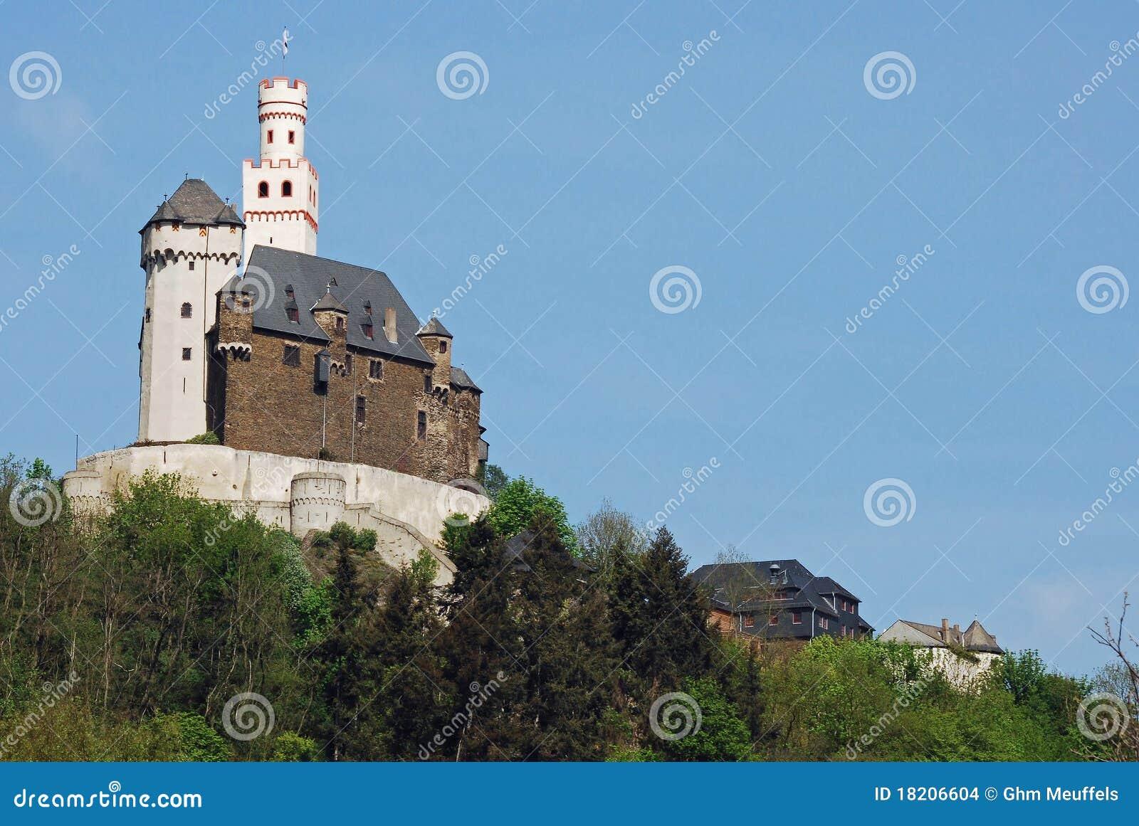 Vieuw on Marksburg Castle, Braubach, Germany