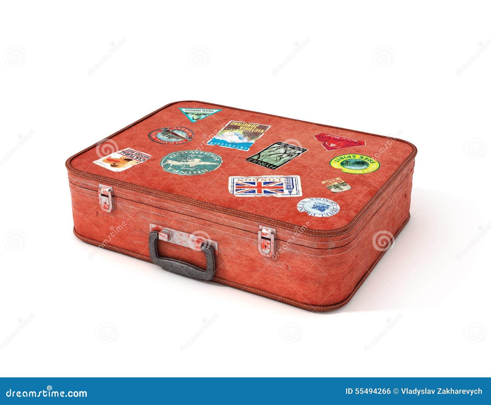 vieux autocollants de voyage de valise illustration stock image 55494266. Black Bedroom Furniture Sets. Home Design Ideas
