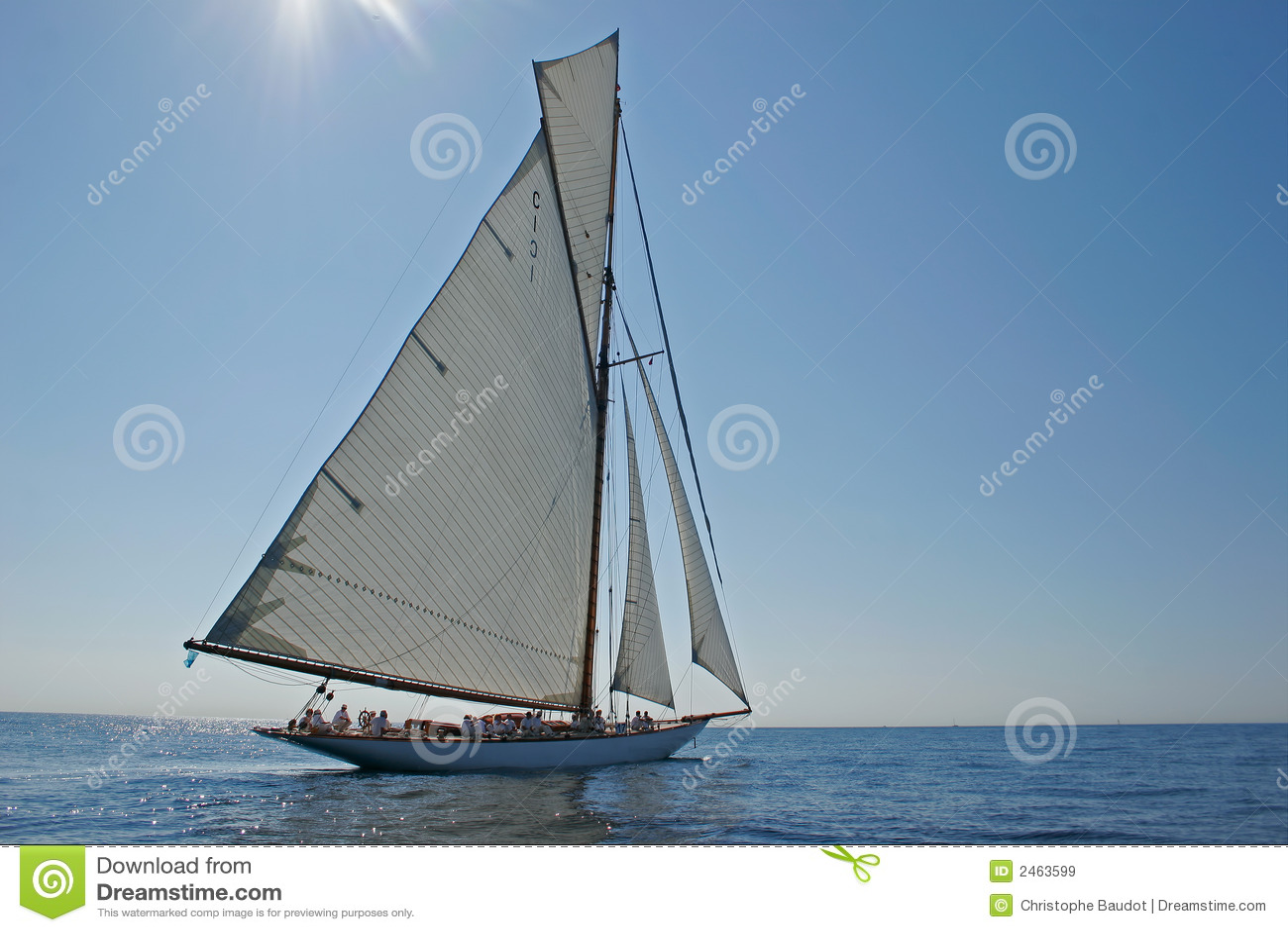 Vieux bateau à voile