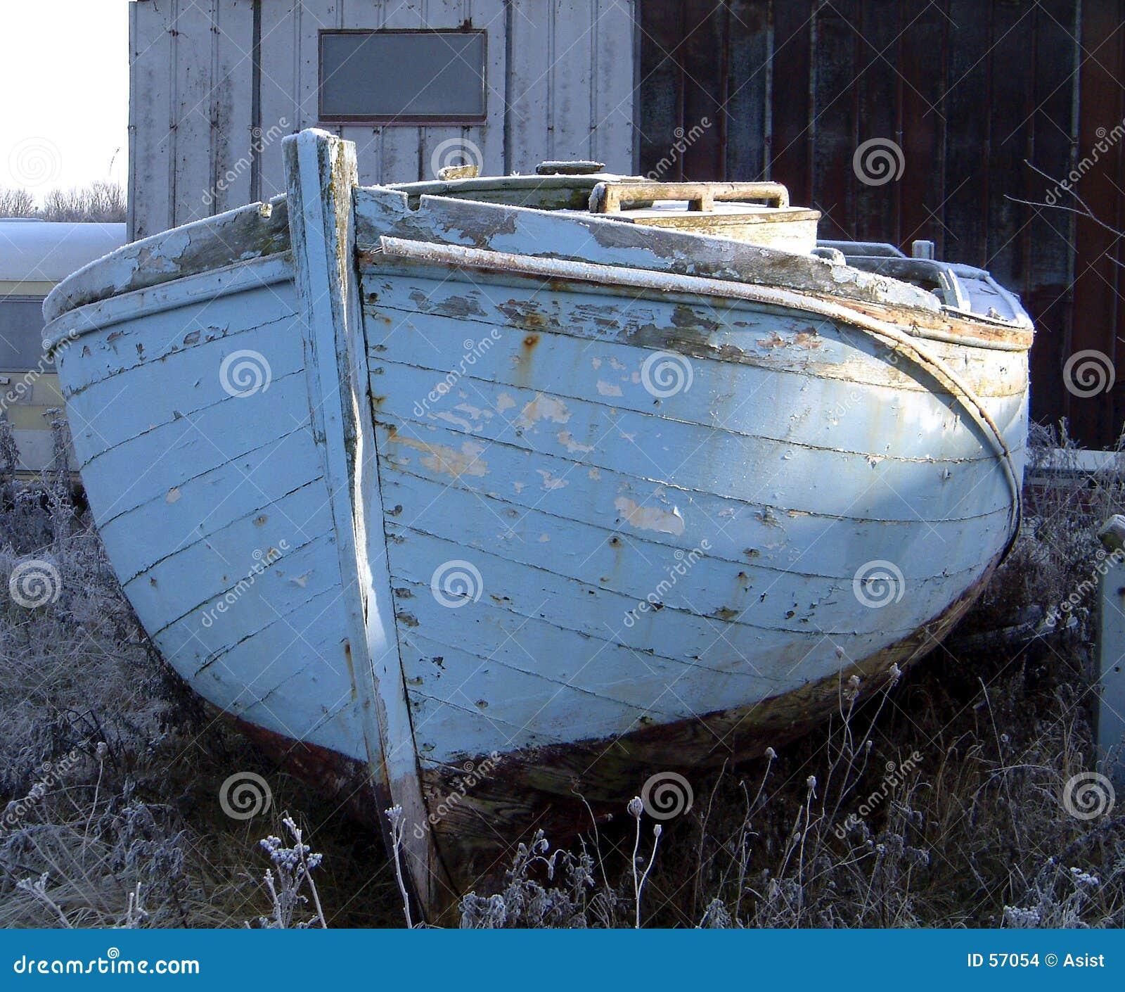 Download Vieux bateau photo stock. Image du petit, peinture, planche - 57054