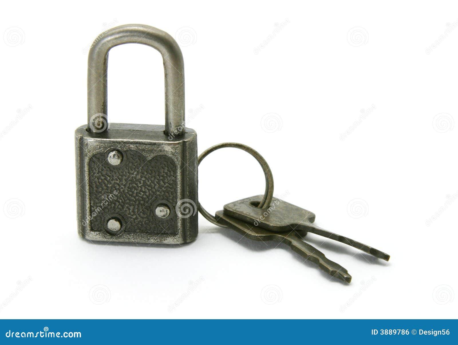Vieux blocage et clés de garniture