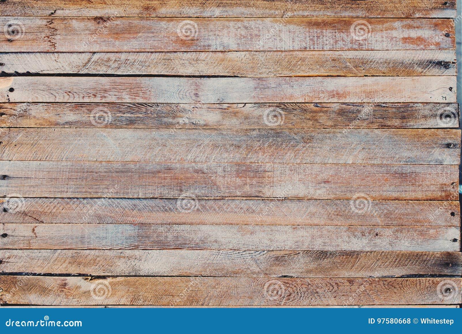 Vieux bureau en bois minable peint par bleu photo stock image du