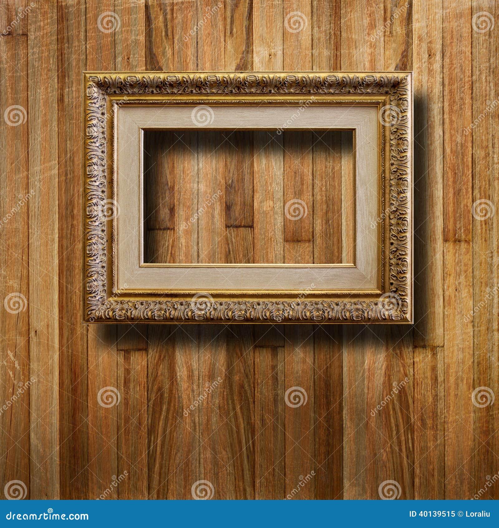 Vieux cadre de tableau dor pour le portrait photo stock - Image de cadre de tableau ...