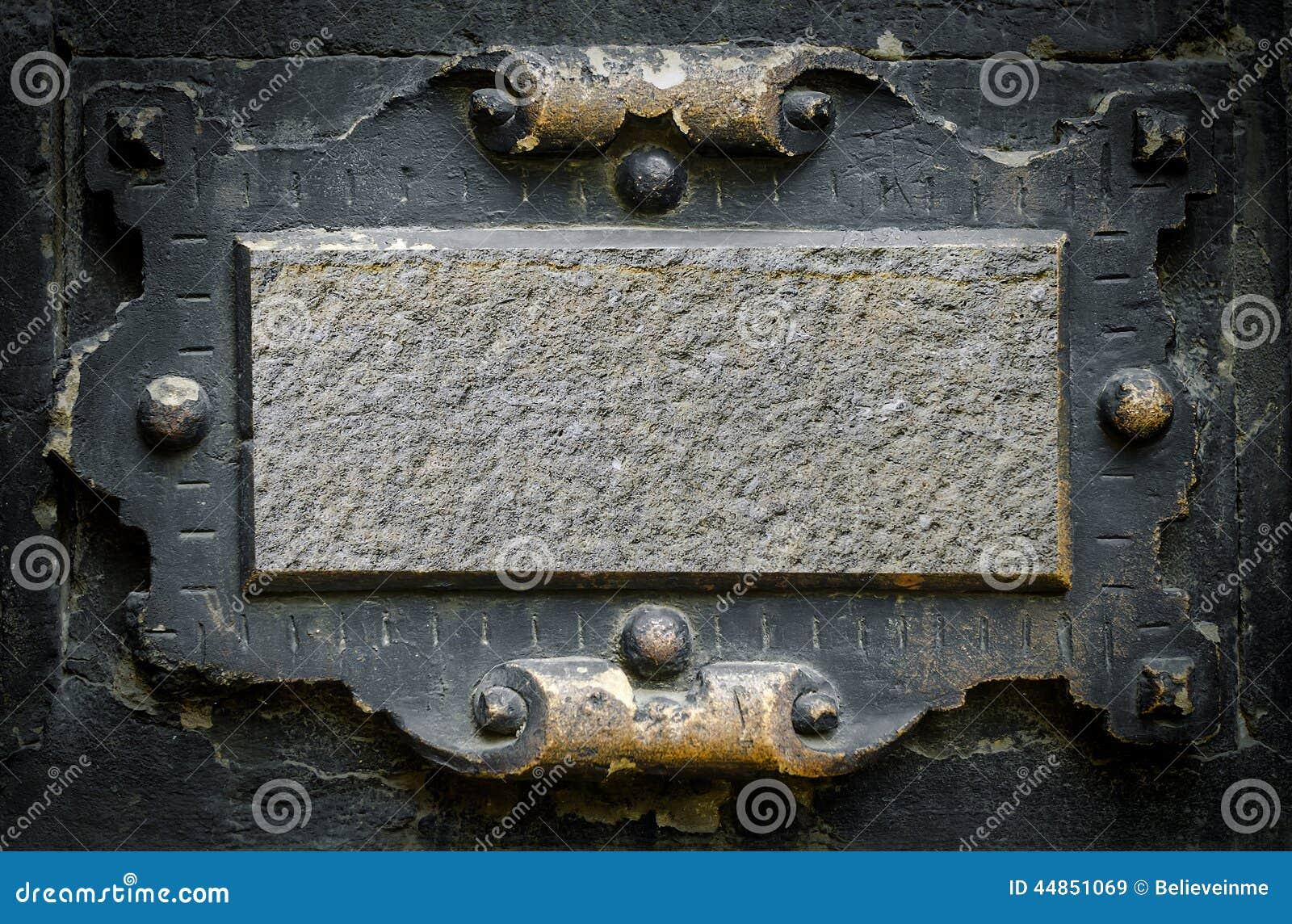 vieux cadre gothique image stock image du signe pl tre 44851069. Black Bedroom Furniture Sets. Home Design Ideas