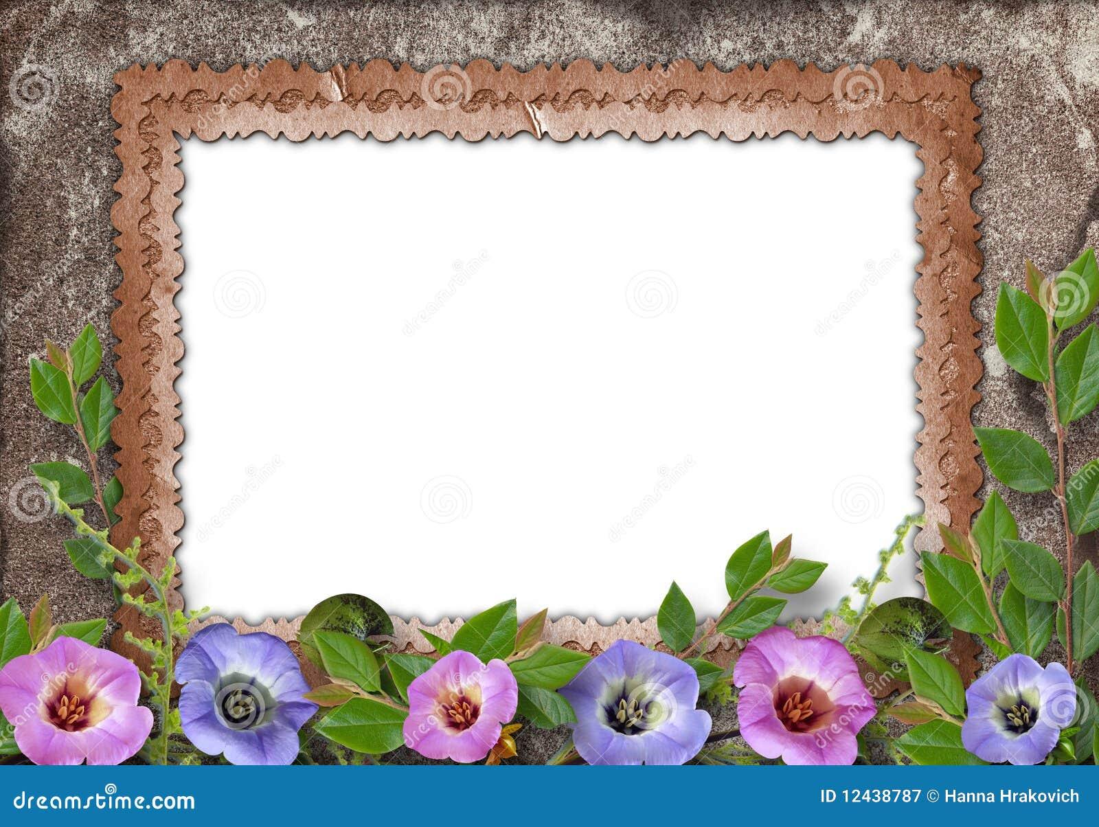 vieux cadre pour la photo illustration stock image du m moire 12438787. Black Bedroom Furniture Sets. Home Design Ideas
