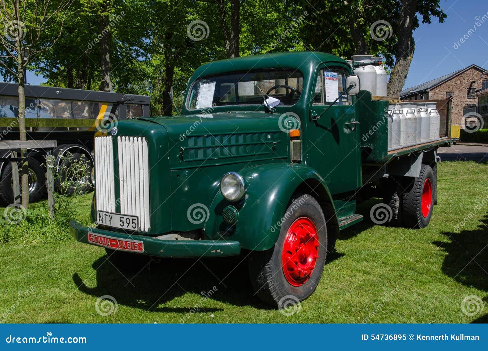 vieux camion de minuterie de scania vabis image ditorial