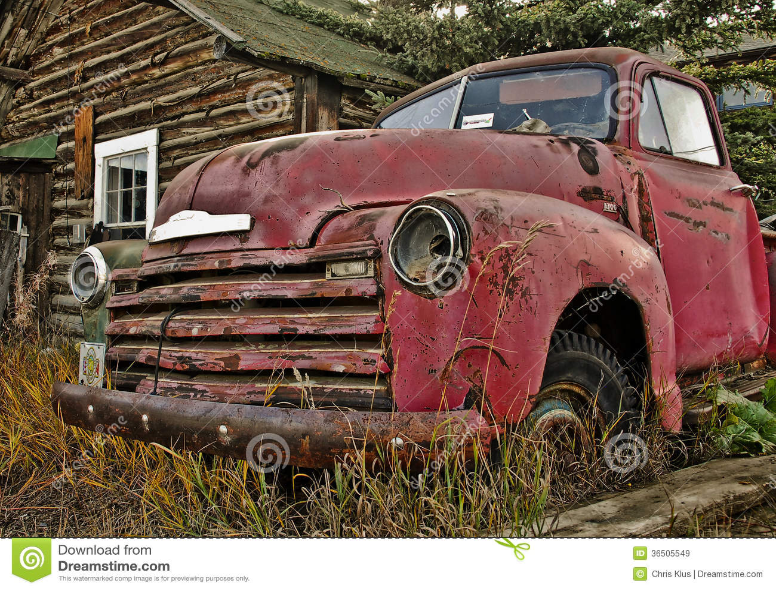 Vieux camion du Yukon