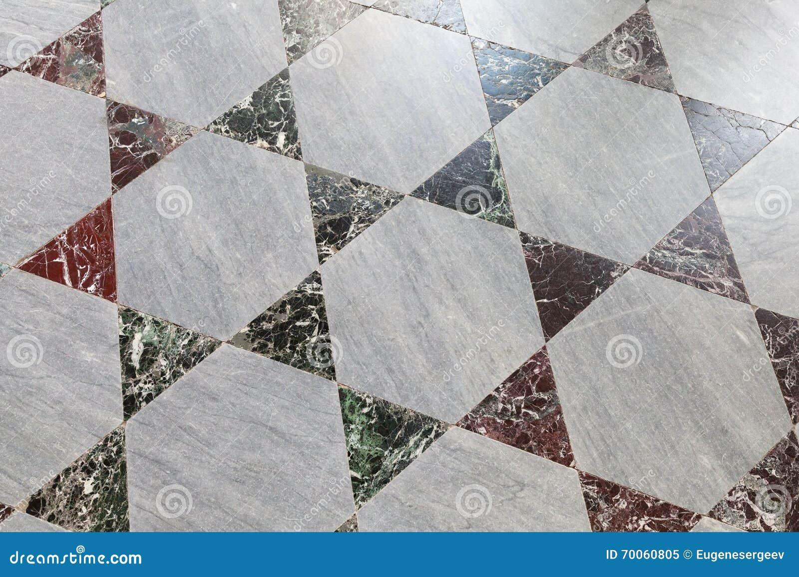 Vieux carrelage en pierre de plancher, modèle polygonal
