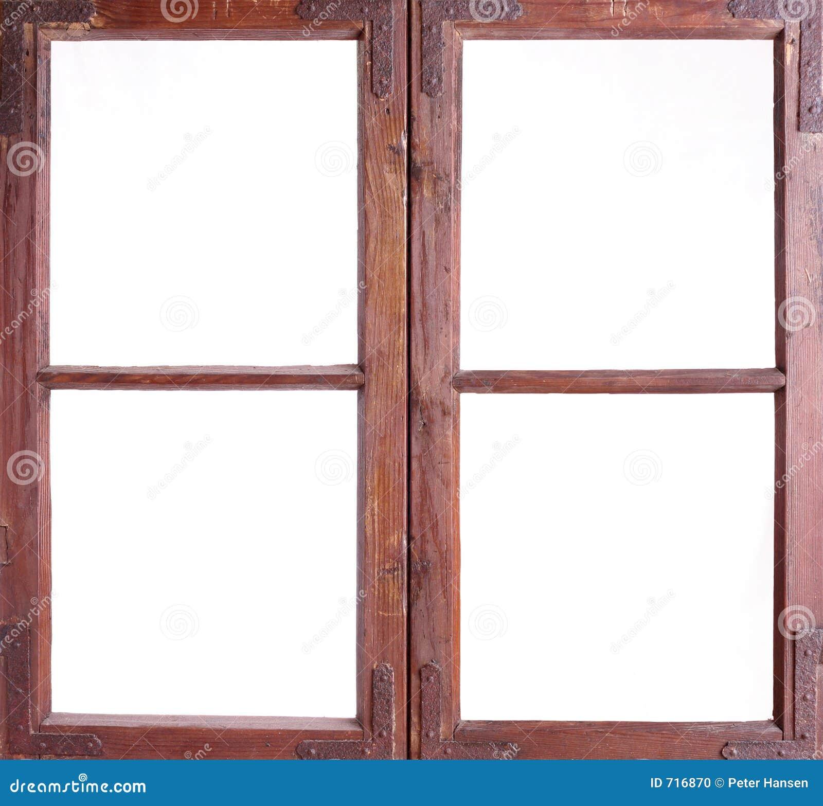 Vieux châssis de fenêtre