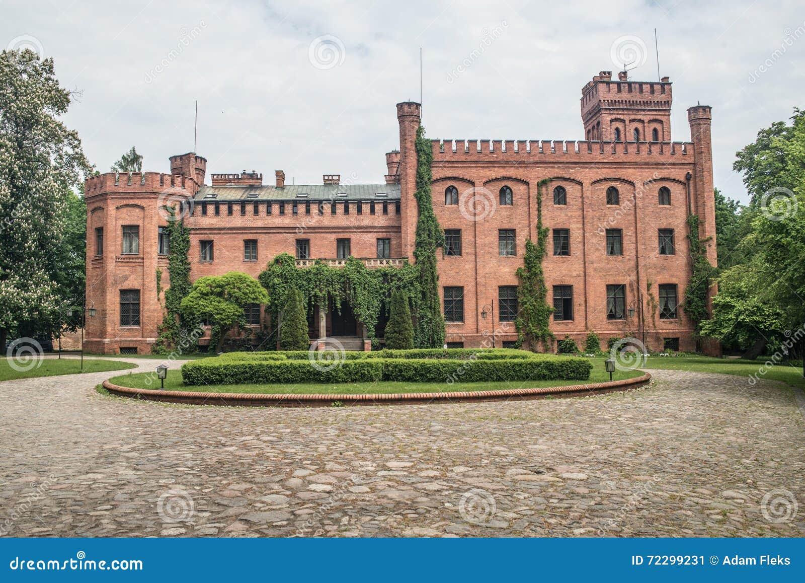 Vieux château gothique dans Rzucewo