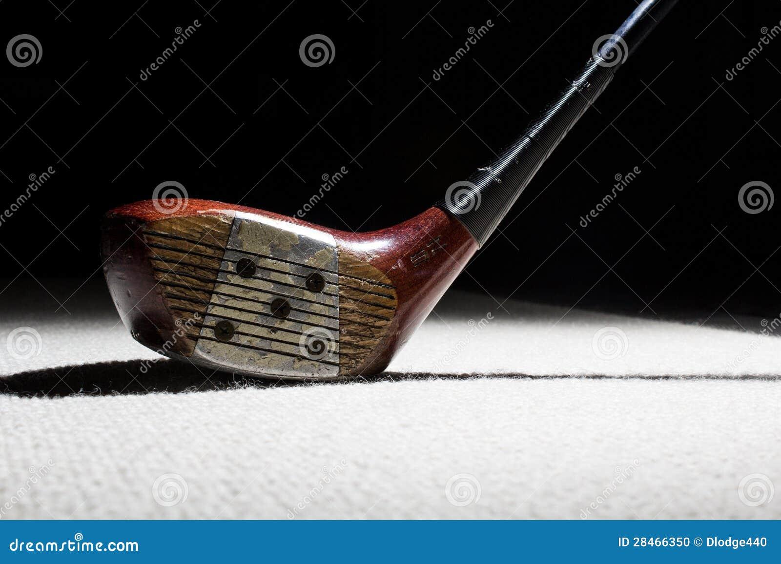 vieux club de golf en bois photo stock image 28466350. Black Bedroom Furniture Sets. Home Design Ideas