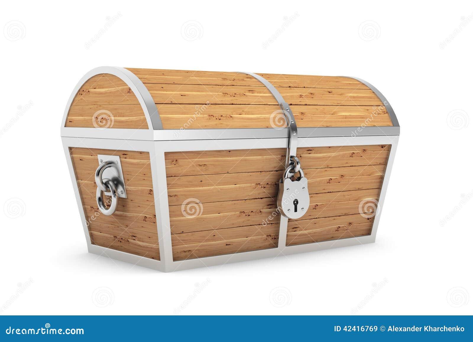 vieux coffre au tr sor en bois de pirate photo stock image 42416769. Black Bedroom Furniture Sets. Home Design Ideas