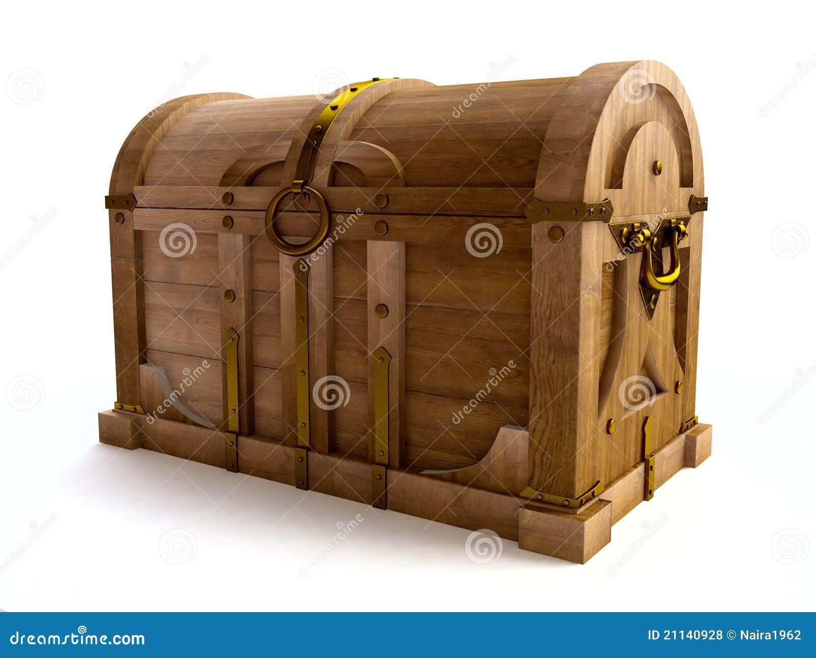 vieux coffre en bois dans 3d photos libres de droits image 21140928. Black Bedroom Furniture Sets. Home Design Ideas