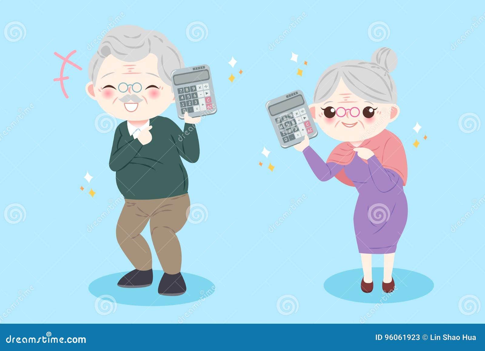Vieux couples de bande dessinée mignonne
