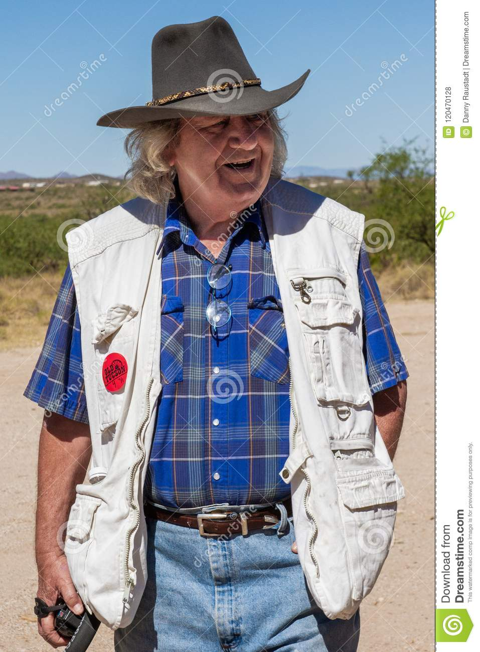 Vieux cowboy occidental sauvage Character