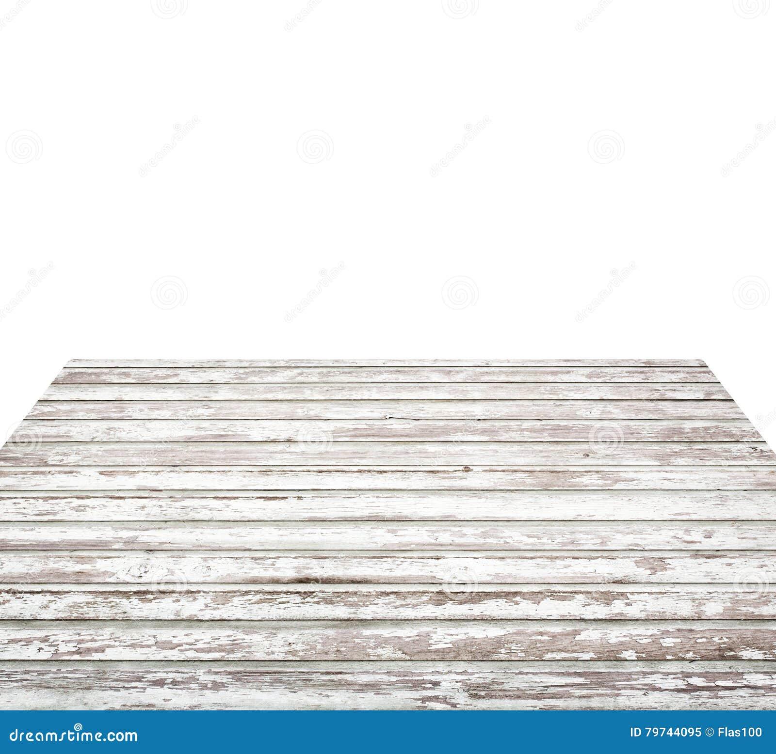 Vieux Dessus De Table En Bois Blanc Peint Vide Planches