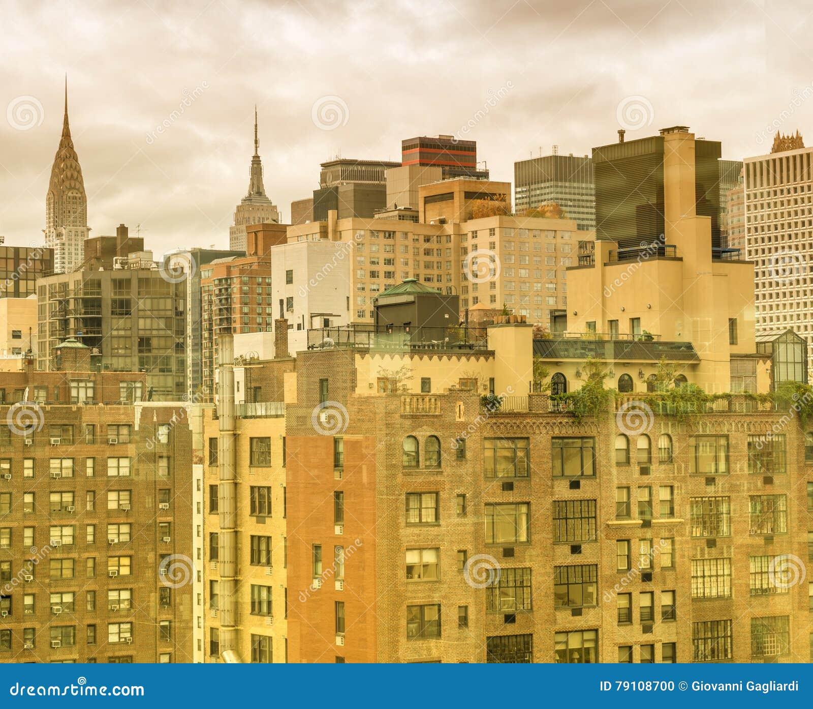 Vieux et modernes bâtiments de New York, Midtown Manhattan