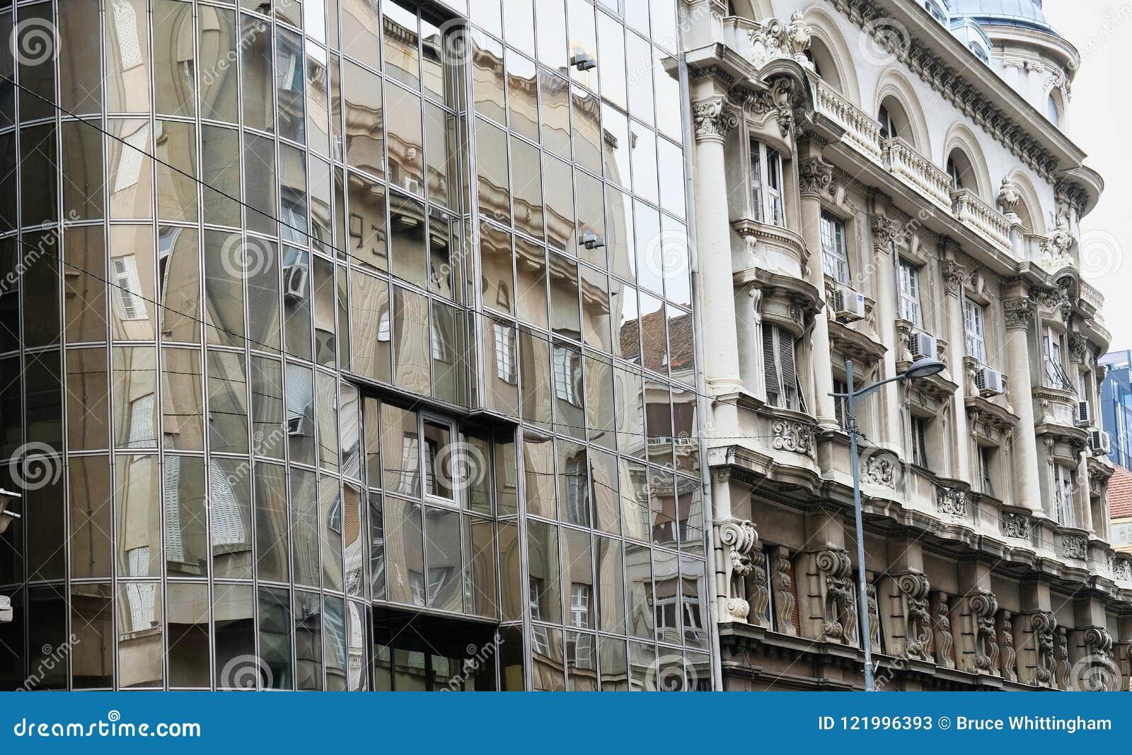 Vieux et nouveaux bâtiments, Belgrade, Serbie