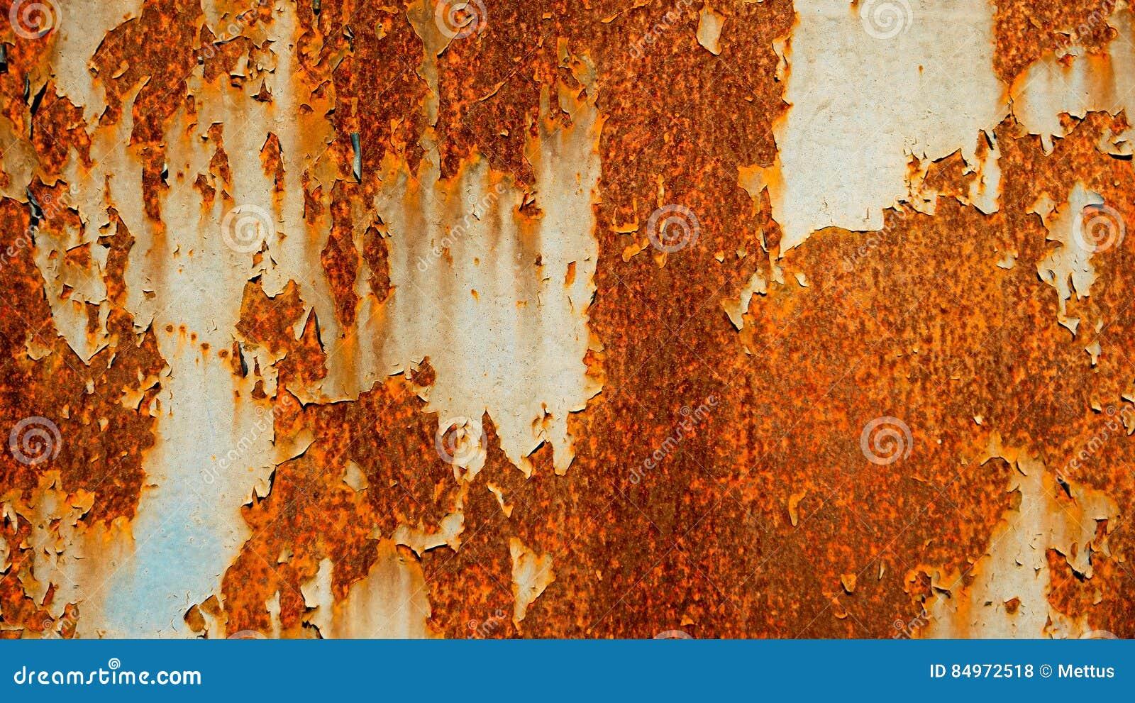 Vieux fond rouillé d abrégé sur feuillard, rouille sur la tôle d acier superficielle par les agents peinte