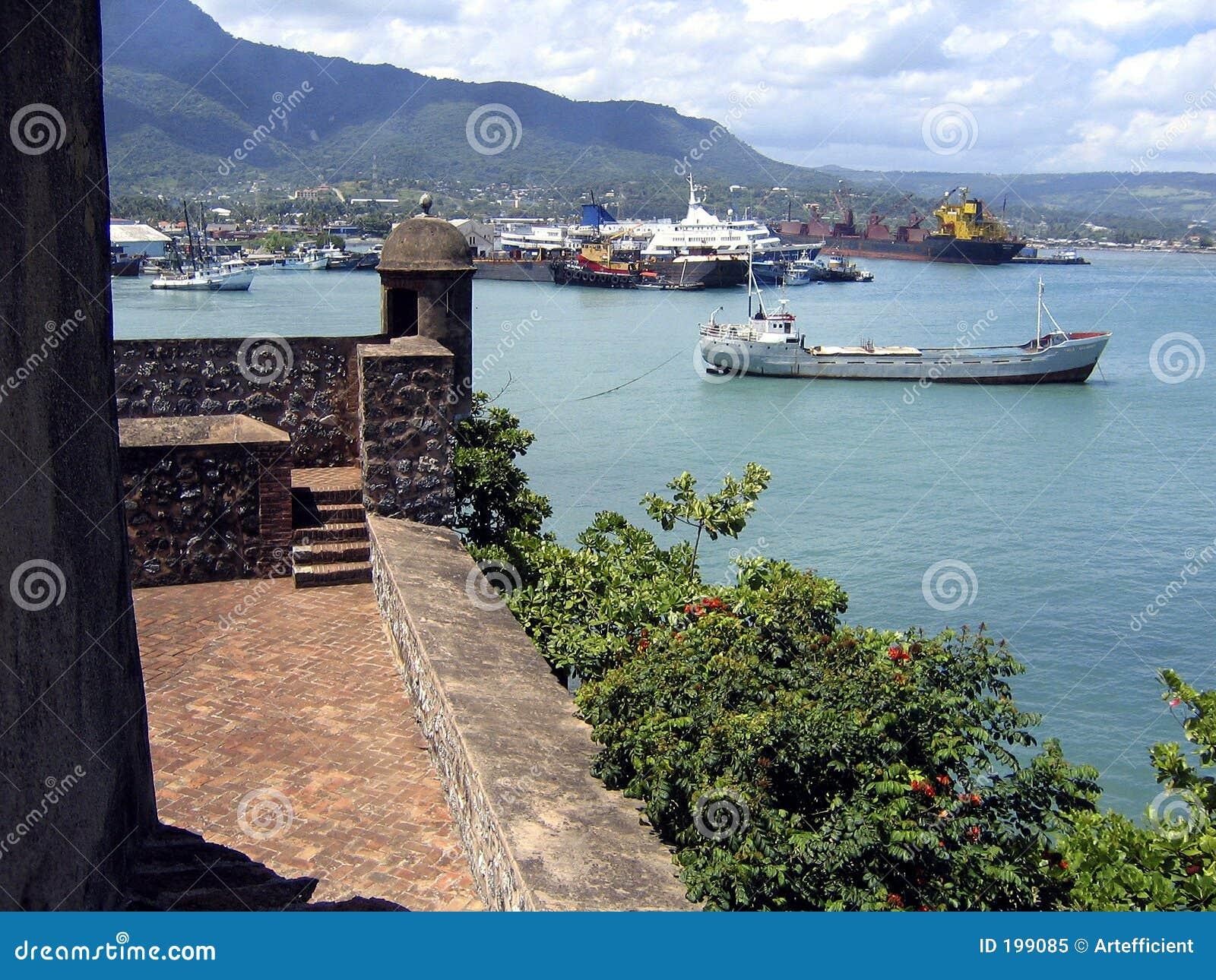 d690b5c7abd0 Vieux Fort Et Port Des Caraïbes De Puerto Plata Image stock - Image ...