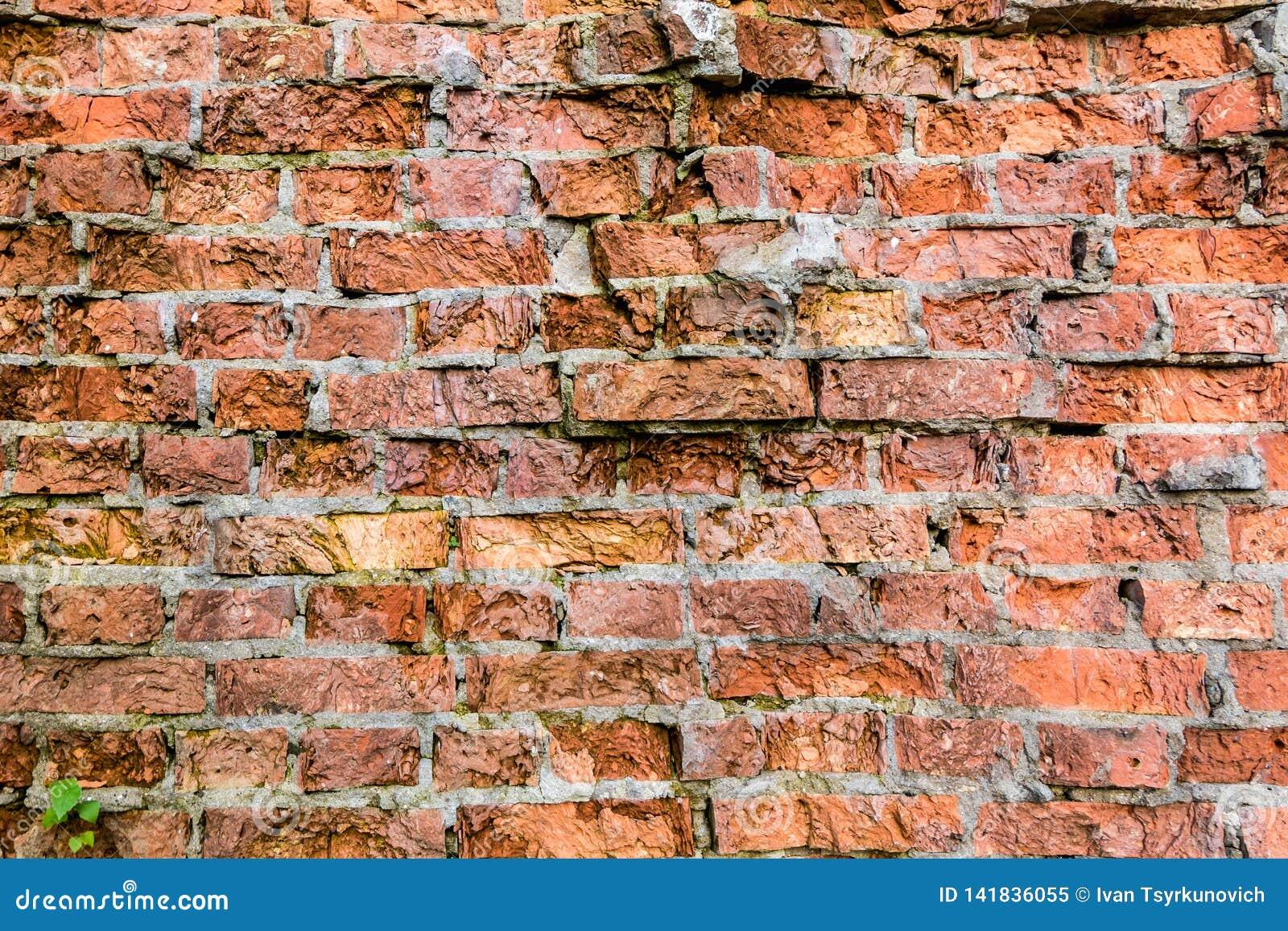 Vieux grenier cassé léger de texture de décoration de modèle de mur de briques intérieur ou extérieur