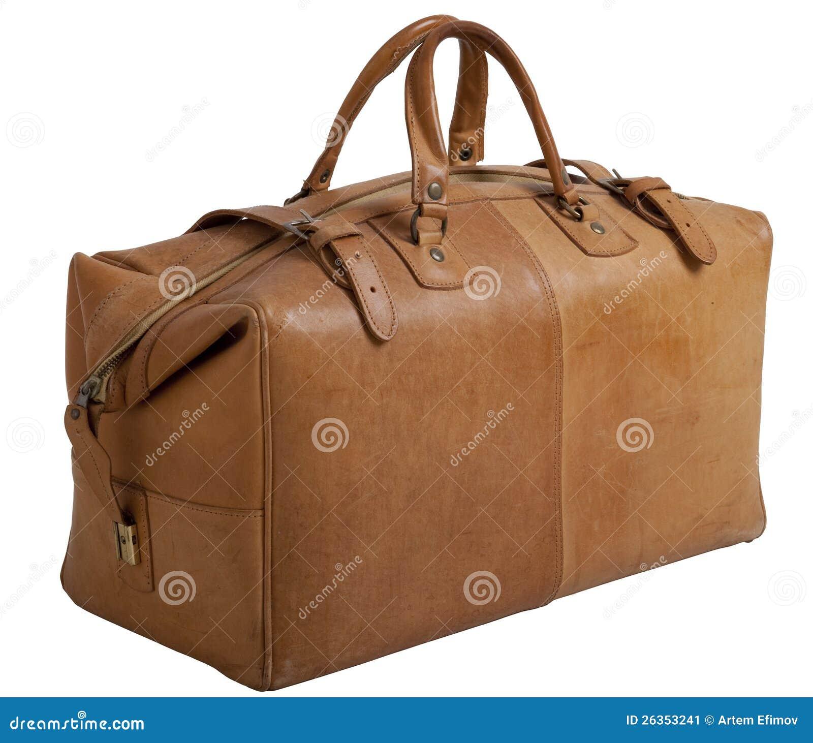 Vieux gripsack en cuir