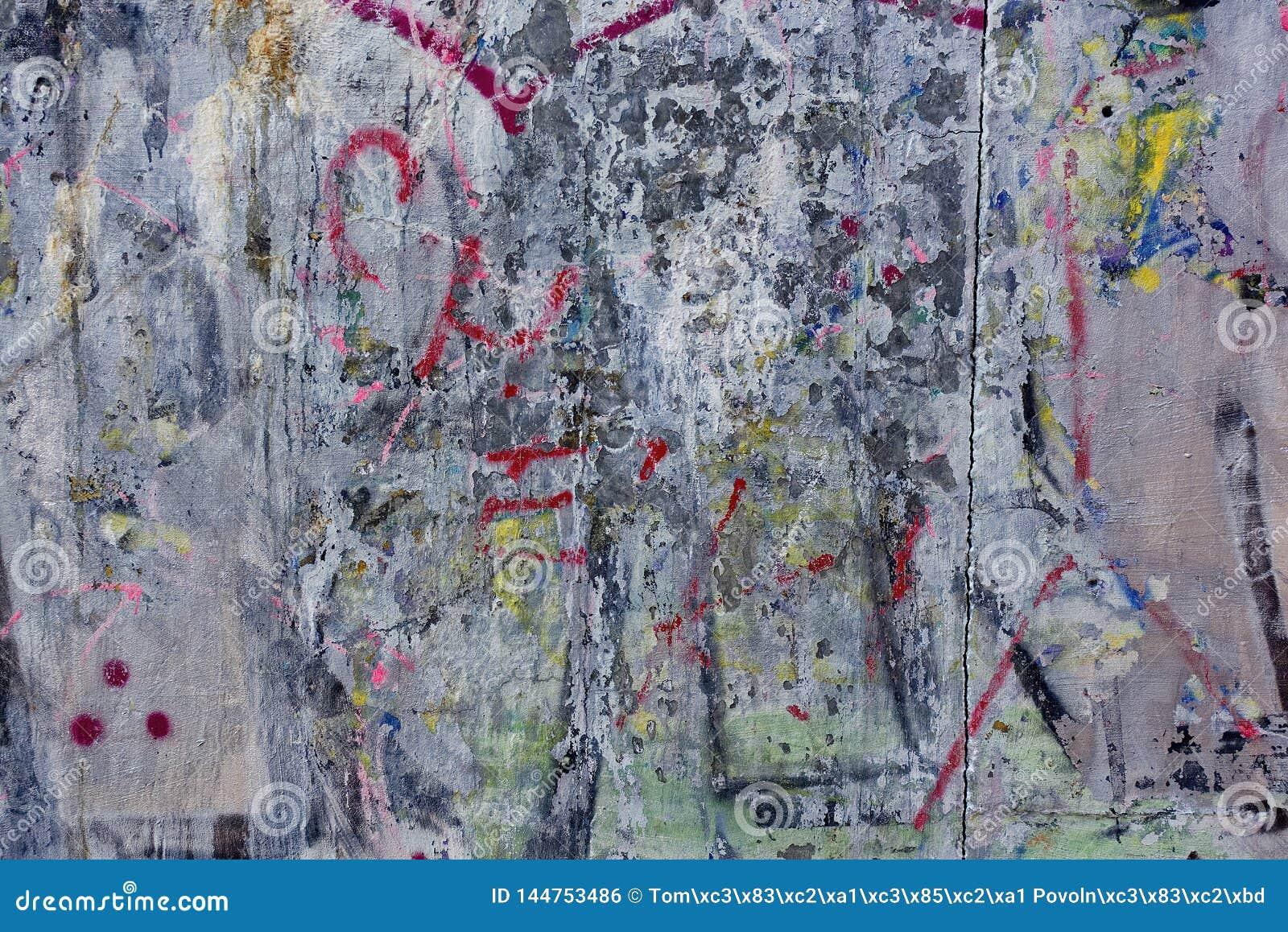 Vieux grunge sale de graffity de mur en béton rugueux