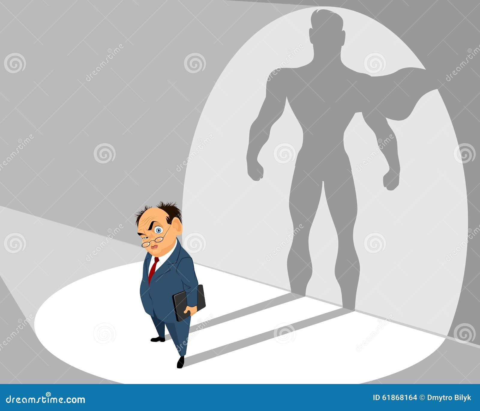 Vieux homme d affaires et lui silhouette