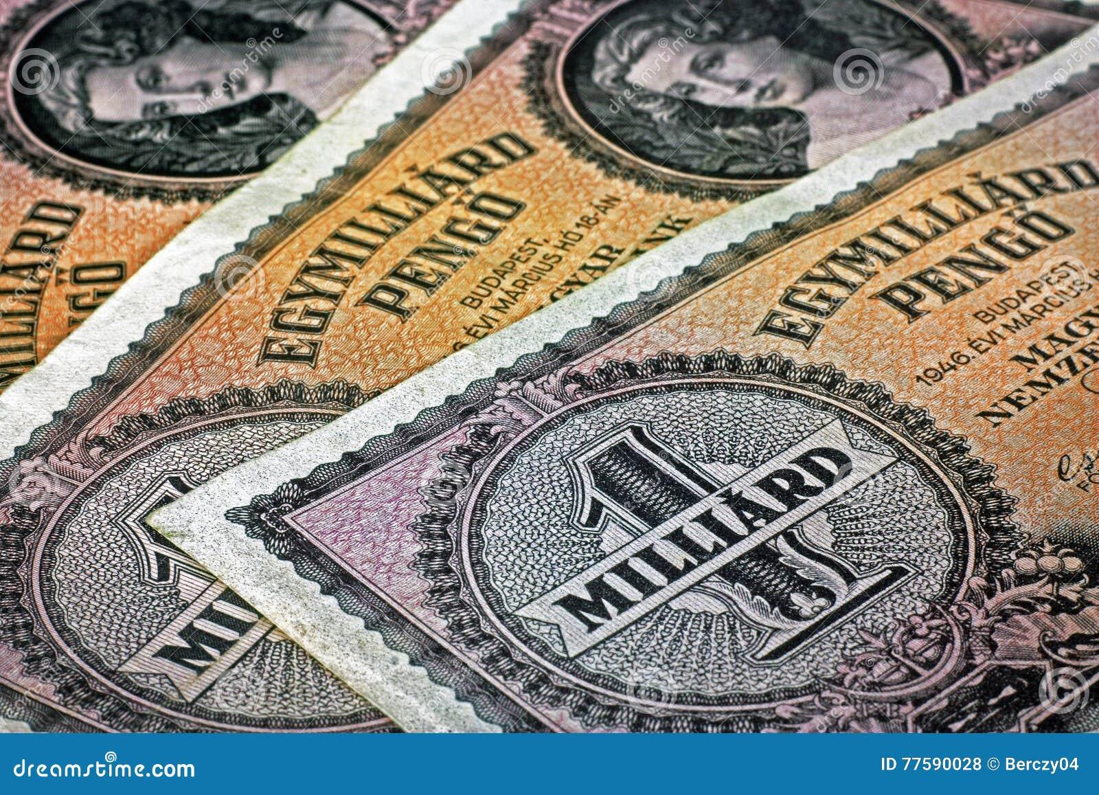 Vieux Hongrois un milliard d argent de pengo