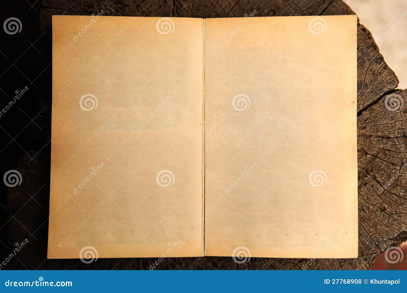 Vieux livre blanc ouvert