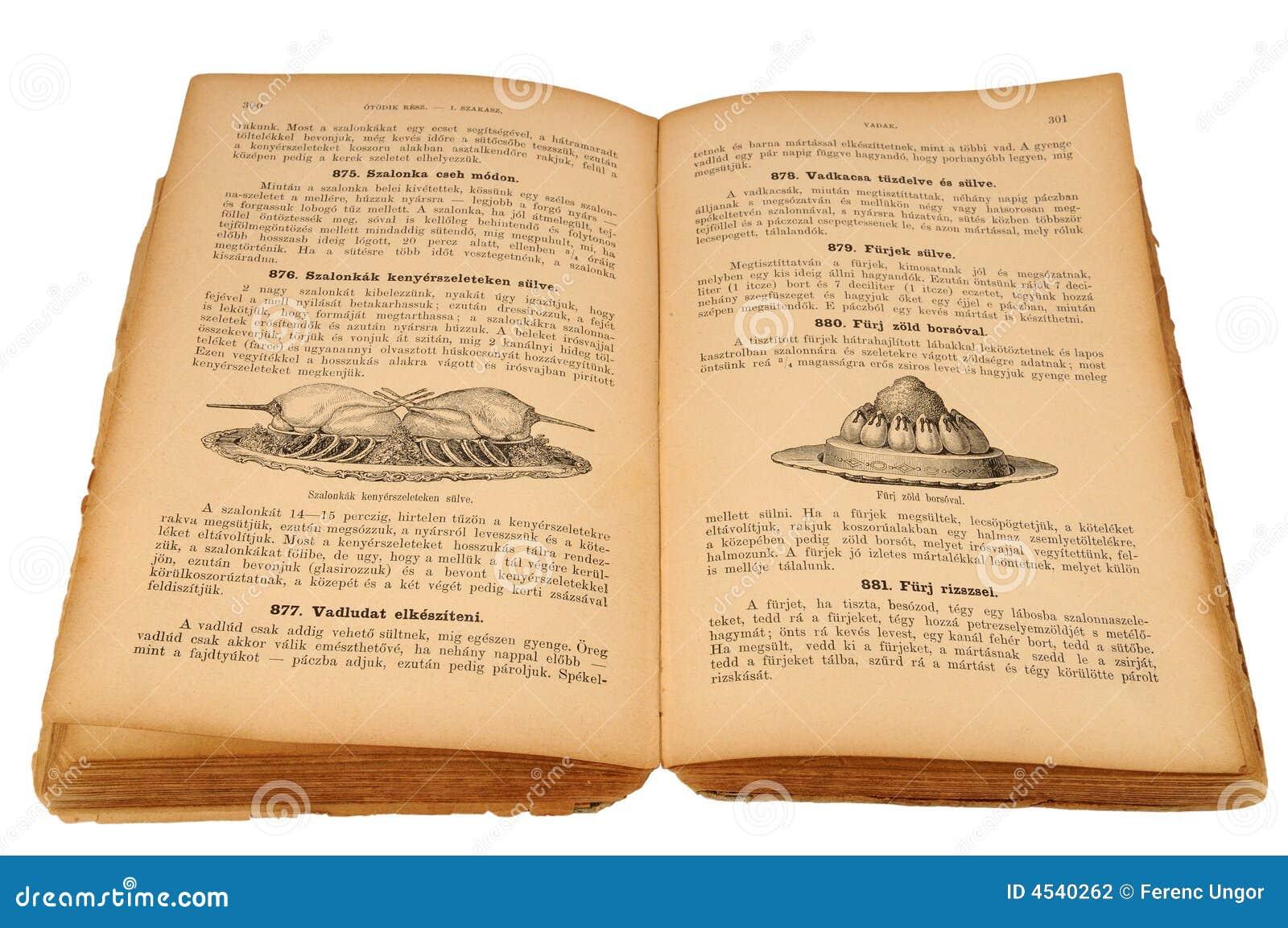 Vieux livre de cuisine photographie stock image 4540262 for Vieux livre de cuisine