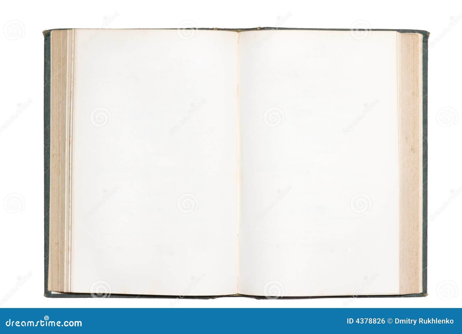Imagen De Un Libro Abierto Para Colorear Avec Encantador: Vieux Livre Ouvert Avec Les Pages Blanc D Isolement Stock