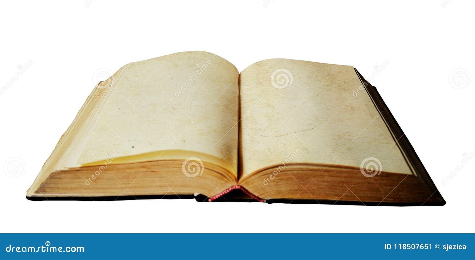 Vieux Livre Ouvert Avec Les Pages Vides Image Stock Image