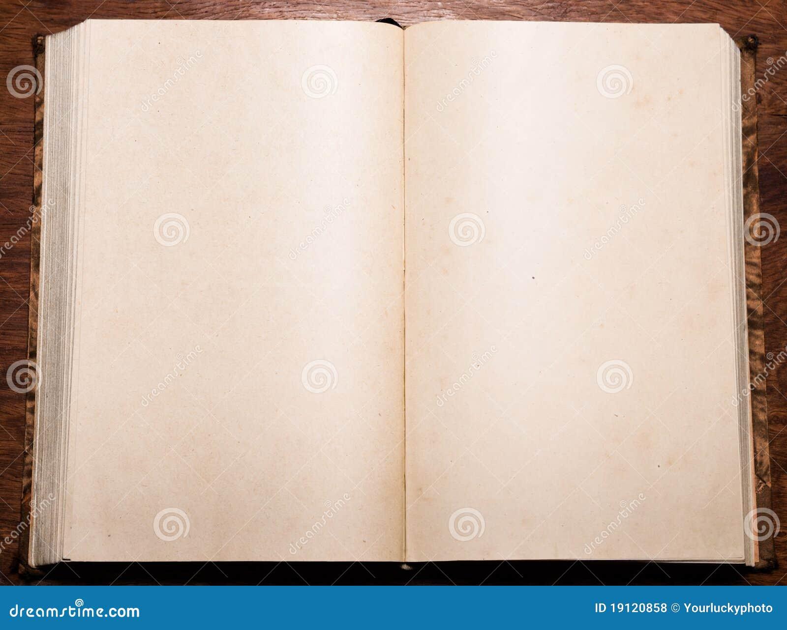 Vieux Livre Vide Photo Stock Image Du Antiquite Blanc