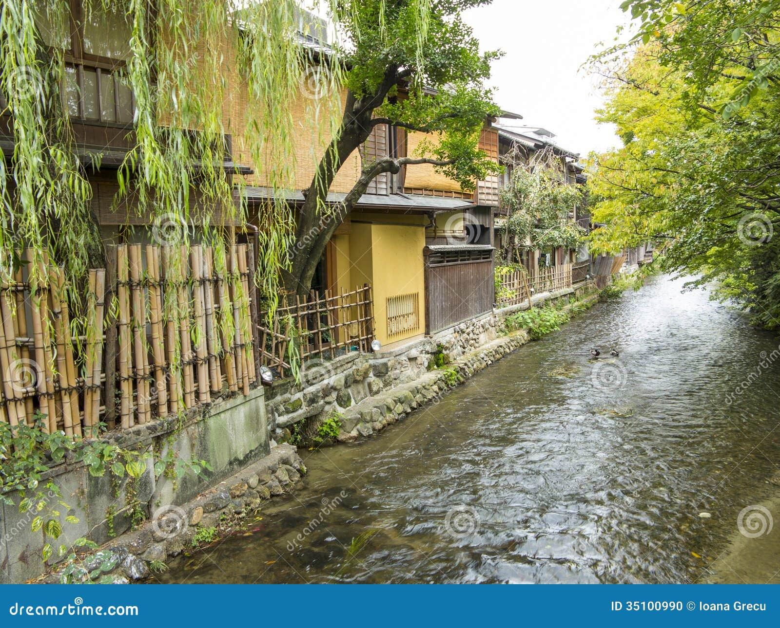 Vieux maisons et courant de Gion