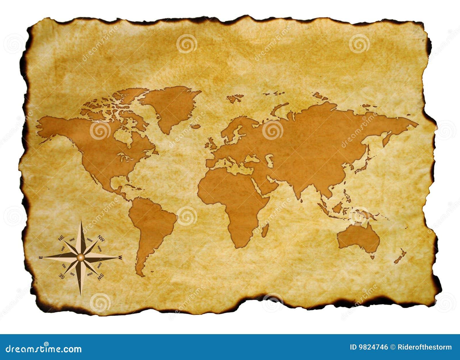 Vieux Monde de carte