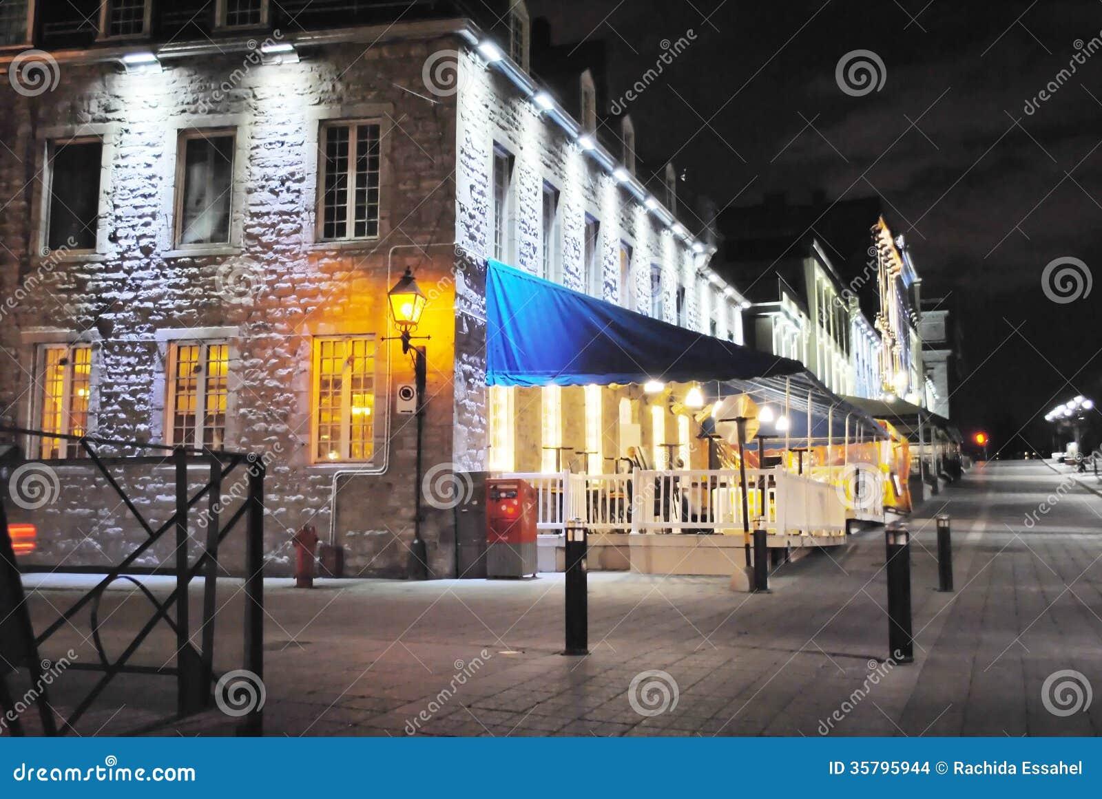 Vieux Montréal par nuit