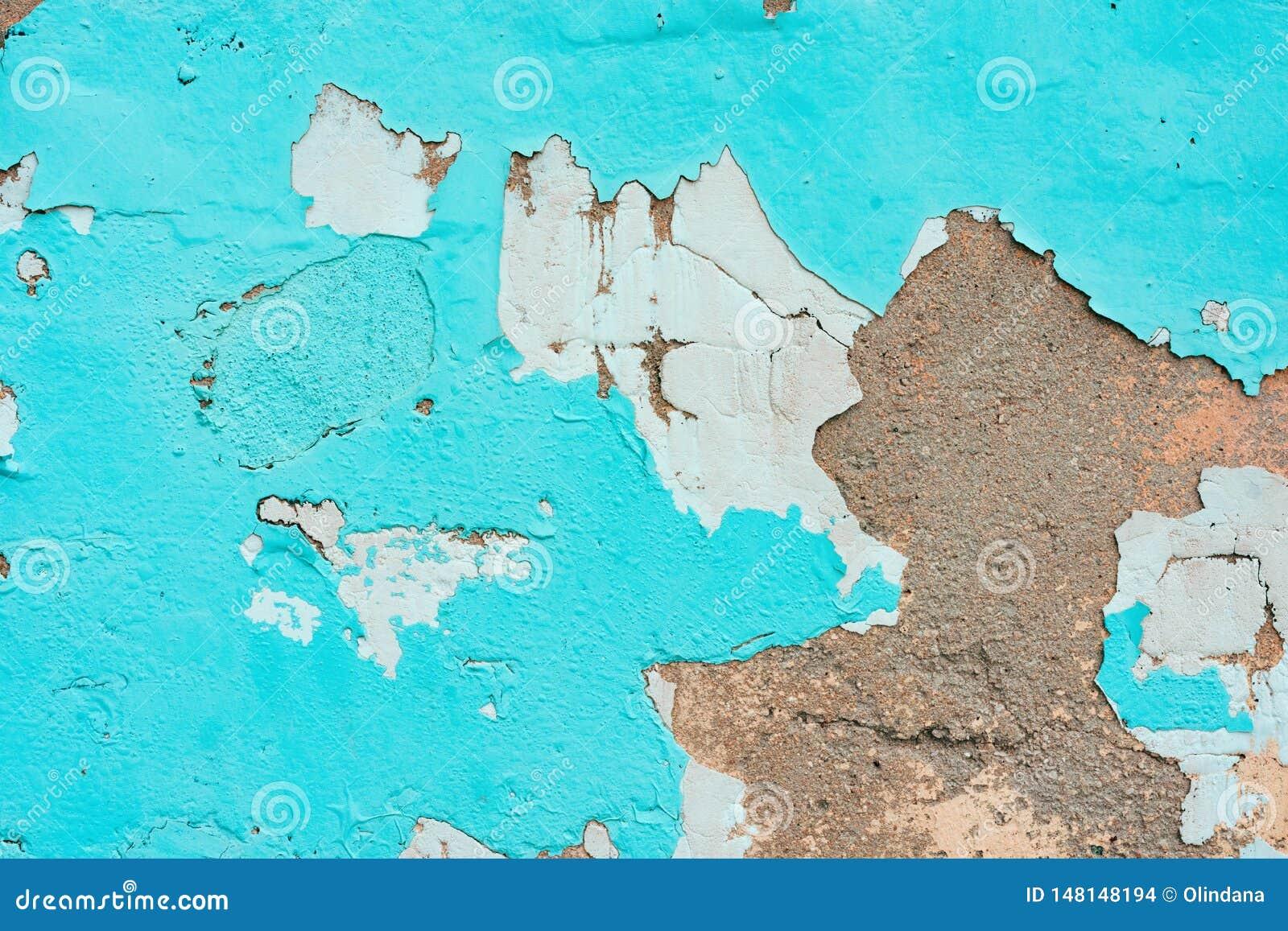 Peinture Couleur Terre Cuite vieux mur avec épluché le plâtre et la peinture ébréchée de