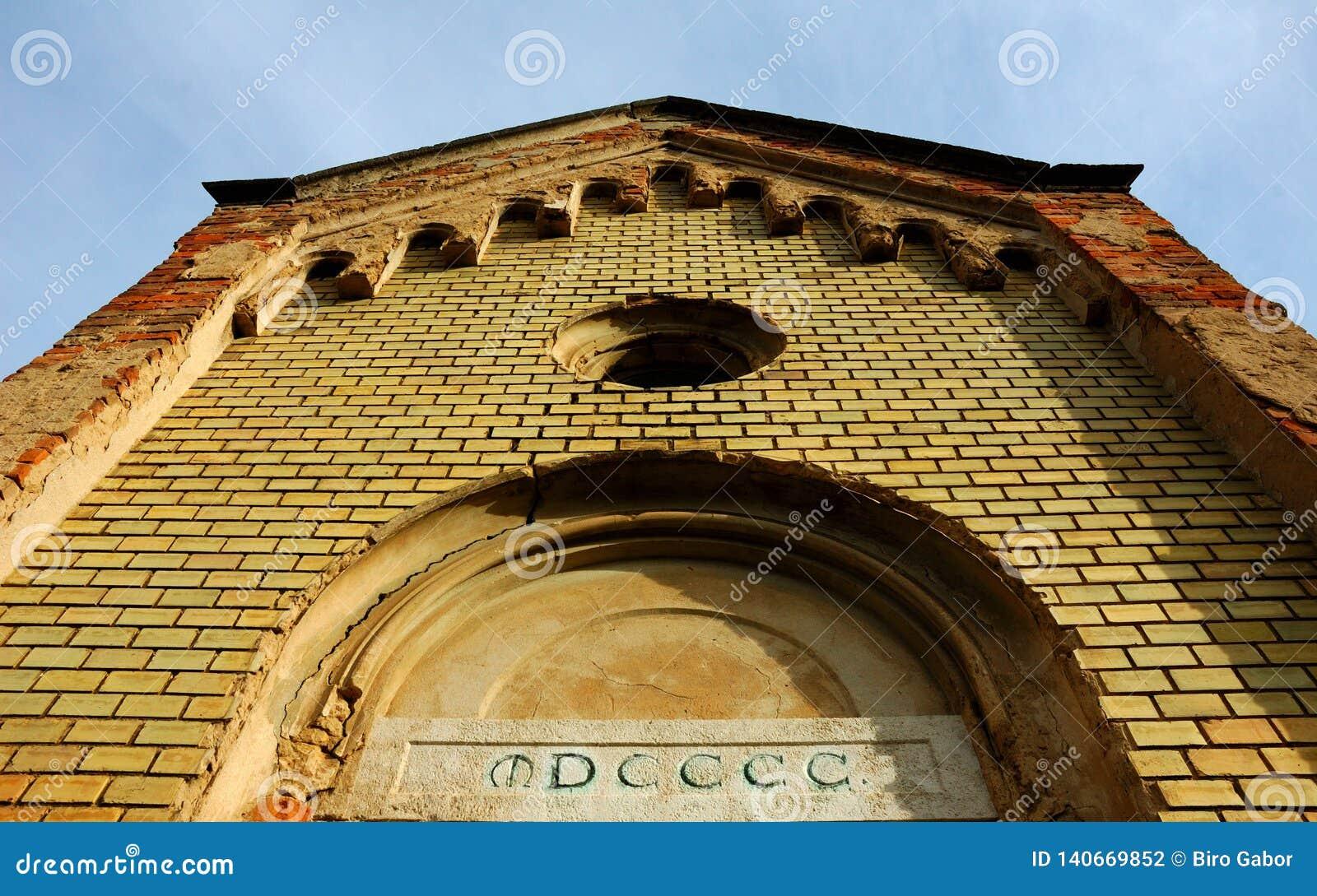 Vieux mur d église de brique vieux, romain, antique, brique, architecture, pierre, mur, antiquité, bâtiment, fond, construction,
