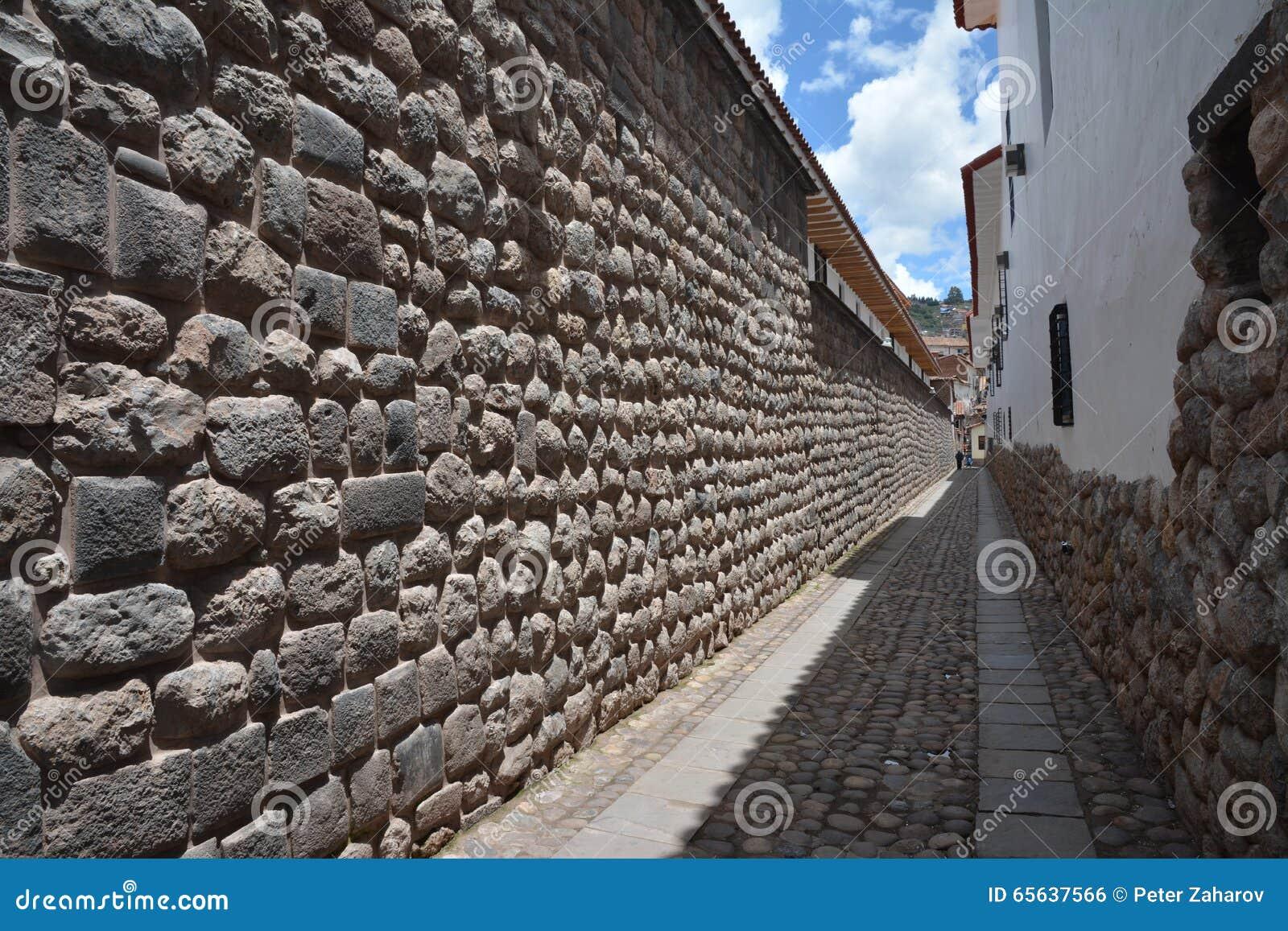 Vieux mur d Inka dans la ville de Cuzco au Pérou, Amérique du Sud