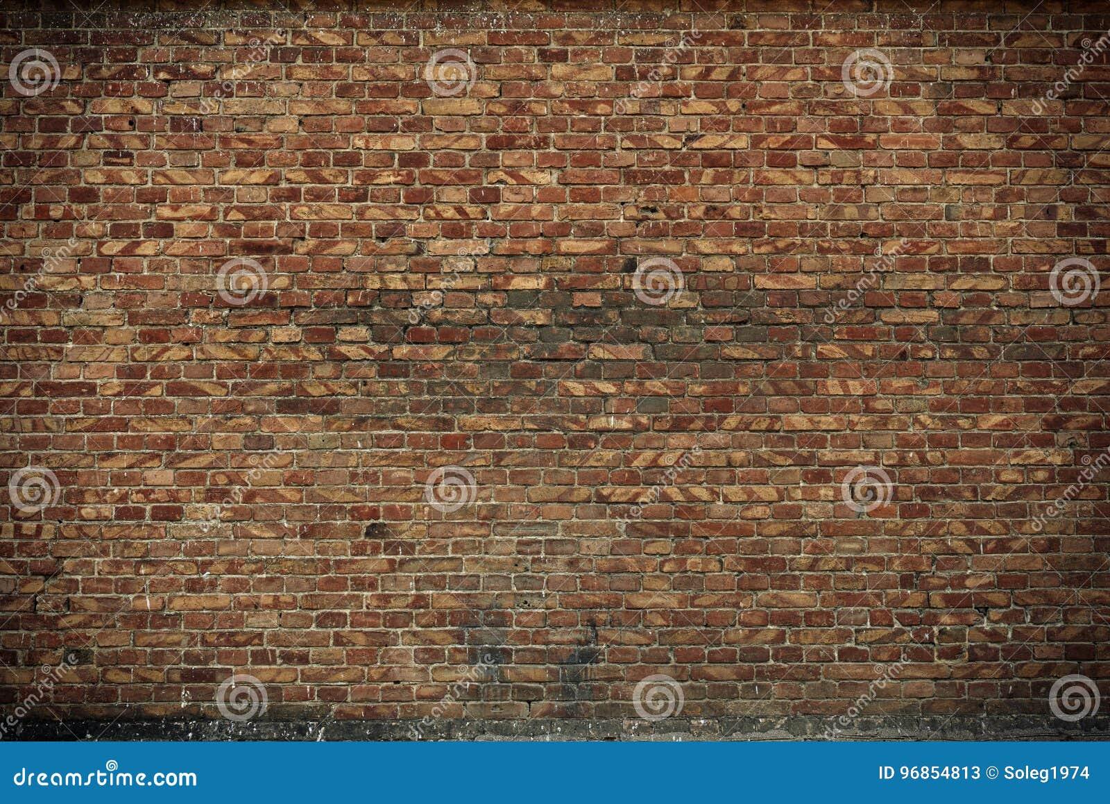 Vieux Mur De Briques Pour La Couleur De Texture Ou De Fond Brune Et